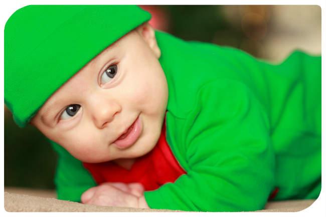 Junge in grün