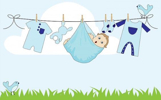 baby waesche leine blau