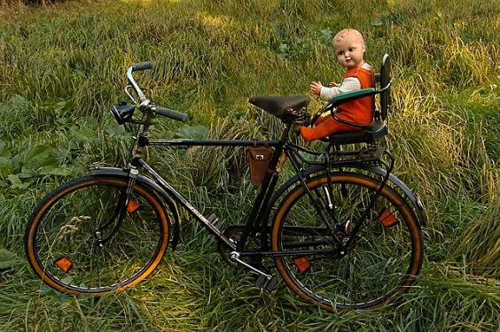 fahrrad baby puppe 564