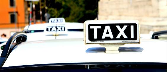 taxi schild 564
