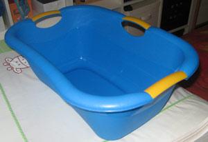 Die Babybadewanne ist am sichersten
