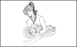 Es gibt viele Stillpositionen, die ein Baby glücklich machen